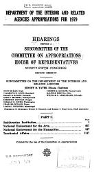 Department of the Interior and Related Agencies Appropriations for 1979
