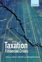 Taxation and the Financial Crisis PDF