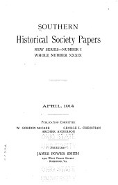 Southern Historical Society Papers: Volume 39