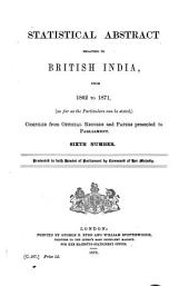 East India (Statistical Abstract).: Statistical Abstract Relating to British India, Issue 6
