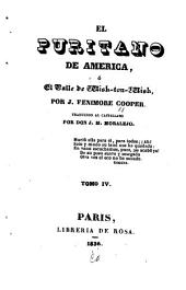 El puritano de America; ó, El valle de Wishton-Wish: Volume4