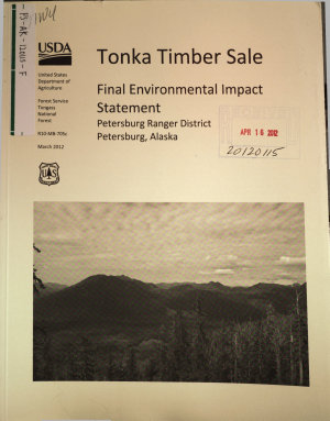 Tongass National Forest  N F   Tonka Timber Sale