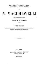 Oeuvres complètes: Ouvrages historiques, Volume1