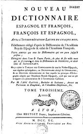Nouveau dictionnaire français-espagnol