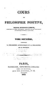 Cours de philosophie positive: Volume 2