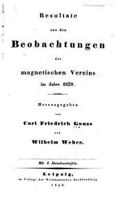 Resultate aus den Beobachtungen des magnetischen Vereins im Jahre ...