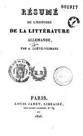 Resumé de l'histoire de la littérature allemande
