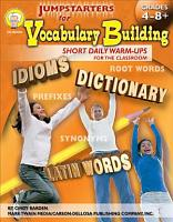Jumpstarters for Vocabulary Building  Grades 4   8 PDF