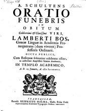 Oratio funebris in obitum Lamberti Bos