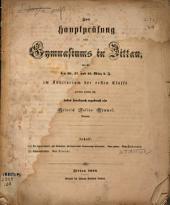 De logographis, qui dicuntur, antiquissimis Graecorum historicis: Pars prior