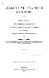 bd. Allgemeine anatomie der organismen