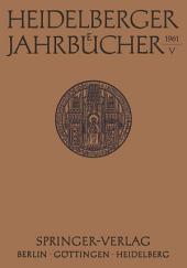 Heidelberger Jahrbücher: Band 5