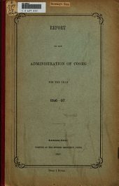Report on the Administration of Coorg
