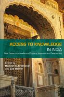 Access to Knowledge in India PDF