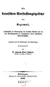 Die Deutschen Verfassungsgesetze
