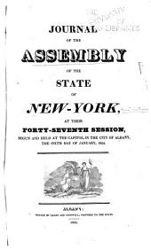 Journal of the Assembly of the State of New York; ...