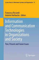 Information and Communication Technologies in Organizations and Society PDF