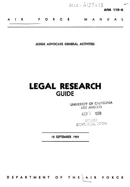 Download Legal Research Guide Book