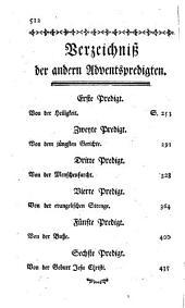 Sämmtliche Predigten, welche vor dem Könige in Frankreich Ludwig dem Vierzehnten gehalten worden: Oder: die Adventpredigten