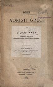 Degli Aoristi Greci