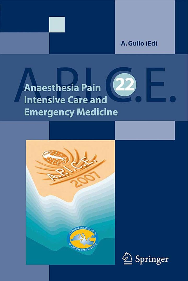 Anaesthesia, Pain, Intensive Care and Emergency A.P.I.C.E.