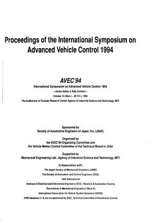 Proceedings of the International Symposium on Advanced Vehicle Control 1994 PDF