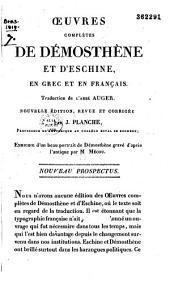Oeuvres completes de Demosthene et d'Eschine, en grec et en francais