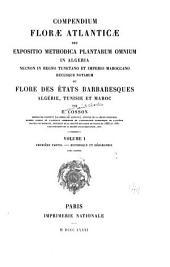 Compendium floræ atlanticæ: Historique et geographie