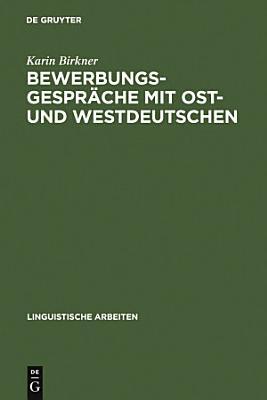 Bewerbungsgespr  che mit Ost  und Westdeutschen PDF