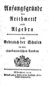 Anfangsgründe der Arithmetik und Algebra