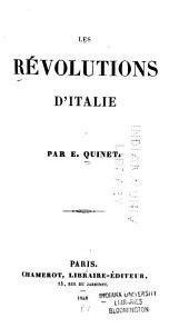 Les révolutions d'Italie: Volume1