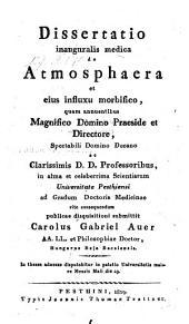 De atmosphaera et ejus influxu morbifico