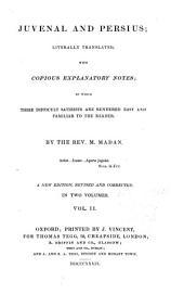 Juvenal and Persius: Volume 2