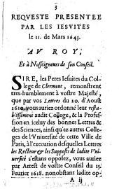 Requeste presentée par les Jesuites 11. Mars 1643