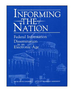 Informing the nation   federal information dissemination in an electronic age  PDF