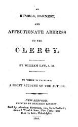 An Humble Earnest And Affectionate Address To The Clergy Book PDF