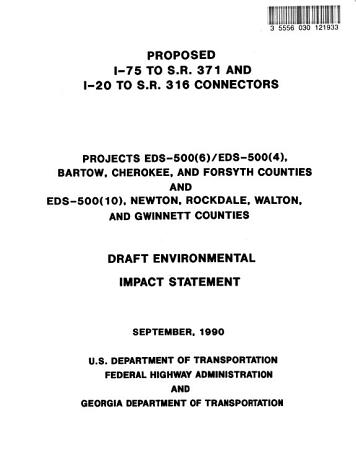 I 75 to SR 371 and I 20 to SR 316 Connectors  Proposed PDF