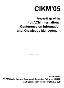 Proceedings of the     International Conference on Information and Knowledge Management PDF