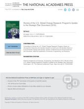 Review of the U.S. Global Change Research Program's Update to the Strategic Plan Document