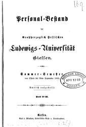 Personalbestand der Grosherzoglich Hessischen Ludwigs-Universität zu Giessen