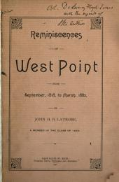 Reminiscences of West Point from September, 1818 to Mar., 1882