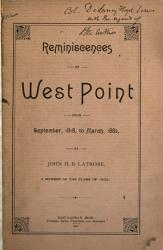 Reminiscences of West Point from September  1818 to Mar   1882 PDF