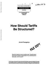 How Should Tariffs be Structured?
