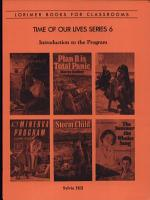 Time of Our Lives Series 6   Introduction to the Program PDF