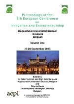 Proceedings for the 8th Europen Conference on Innovation and Entrepreneurship