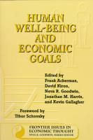 Human Well Being and Economic Goals PDF