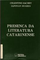 Presen  a da literatura catarinense PDF