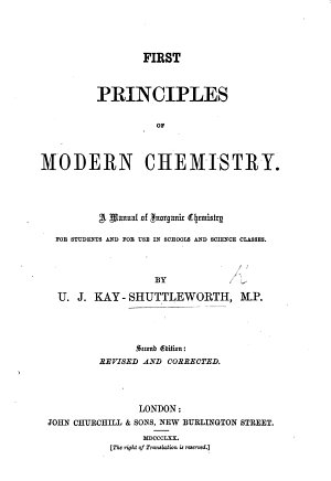 First Principles of Modern Chemistry  A Manual of Inorganic Chemistry  etc PDF
