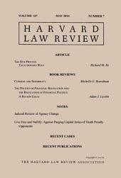 Harvard Law Review: Volume 127, Number 7 - May 2014