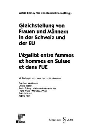 Gleichstellung von Frauen und M  nnern in der Schweiz und der EU PDF